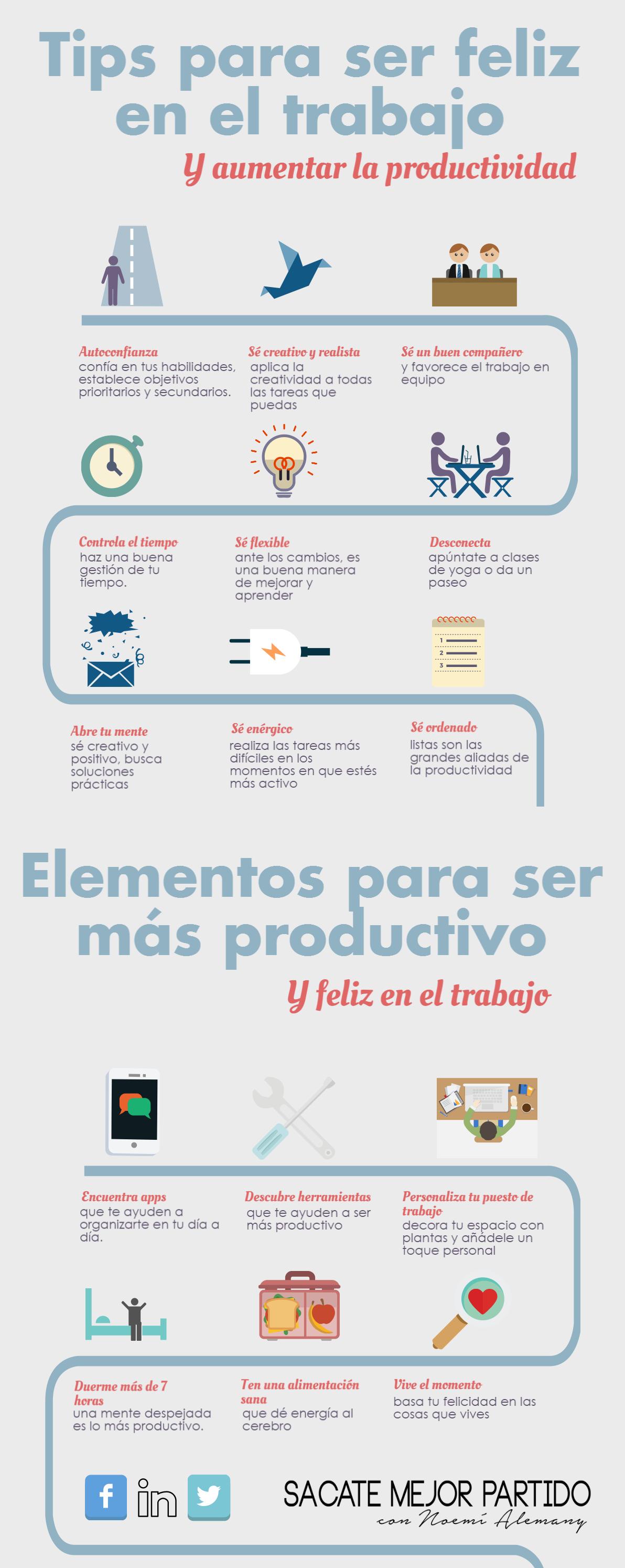 infografia productividad y felicidad